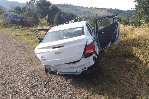 Acidente deixa dois feridos na RSC-453, em Garibaldi CRBM/Divulgação