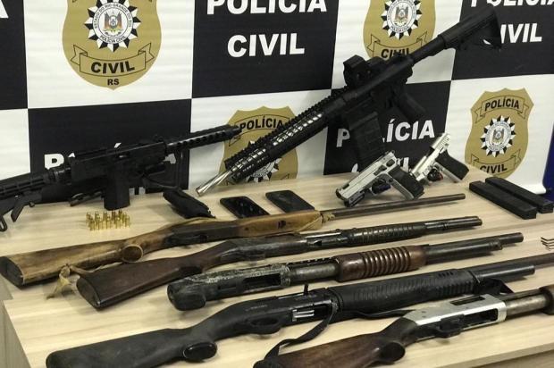 Polícia Civil afirma ter encontrado arsenal de assaltantes de banco, em Caxias do Sul Polícia Civil/Divulgação