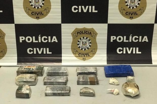 Jovem é preso com seis quilos de drogas em Caxias do Sul Polícia Civil/Divulgação