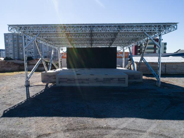 Depois de imprevistos na obra, palco Multiuso será inaugurado no próximo mês, em Farroupilha Jonas Viega / Divulgação Prefeitura de Farroupilha/