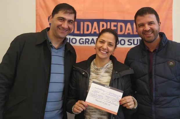 Ex-secretário de Daniel Guerra e ex-apresentadora de TV se filiam ao Solidariedade, em Caxias Facebook/Reprodução