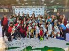 Jogadora caxiense é campeã da Taça Brasil de Futsal Leoas da Serra / Divulgação/Divulgação