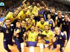 Com caxiense no grupo, seleção brasileira masculina de vôlei garante vaga nas Olimpíadas FIVB/Divulgação