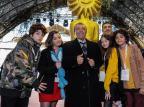 """Mauricio de Sousa está em Gramado acompanhado do elenco de """"Turma da Mônica - Laços"""" Cleiton Thiele / Agência Pressphoto, Divulgação/Agência Pressphoto, Divulgação"""