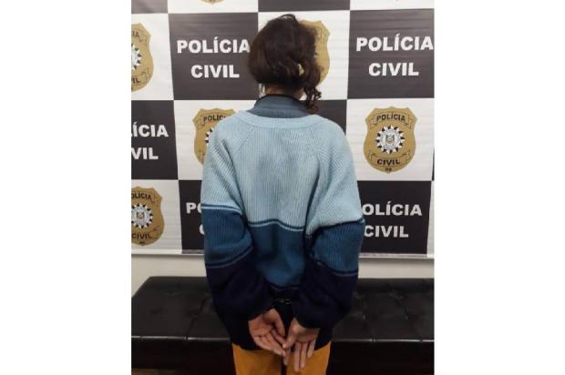 Mulher é presa por suspeita de latrocínio em Caxias do Sul Polícia Civil  / Divulgação /Divulgação