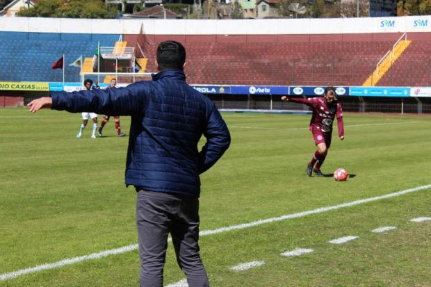 """""""O Caxias precisa criar uma identidade vencedora"""", diz técnico Lacerda após vencer o Grêmio Foto: Vitor Soccol / Dinâmica Comunicação/Dinâmica Comunicação"""