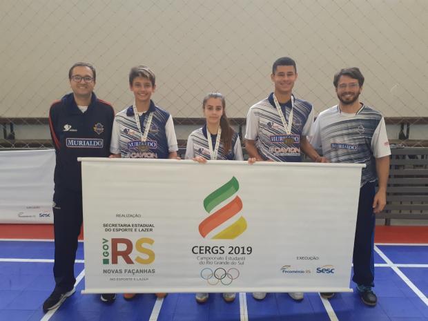Quatro atletas do badminton de Caxias do Sul garantem vaga nos Jogos Escolares da Juventude CFEB Murialdo / Divulgação/Divulgação