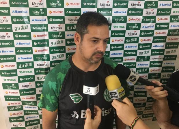 Marquinhos lamenta foguetório em treinamento do Juventude no Maranhão Eduardo Costa / Agência RBS/Agência RBS