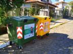 Carlos Barbosa recebe contêineres para a coleta de lixo Felipe Ferla/Divulgação