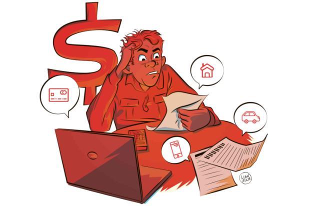 Saia do vermelho: cinco passos para quitar suas dívidas Luan Zuchi/