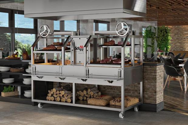 Fabricante caxiense de churrasqueiras atende 80 países Hiram Voges/divulgação