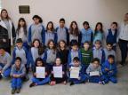 Estudantes de Fagundes Varela, na Serra, recebem carta da rainha Elizabeth II Escola Caminhos do Aprender/Divulgação