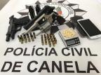 Principal líder do tráfico em Canela é preso em operação nesta terça-feira Polícia Civil  / Divulgação /Divulgação