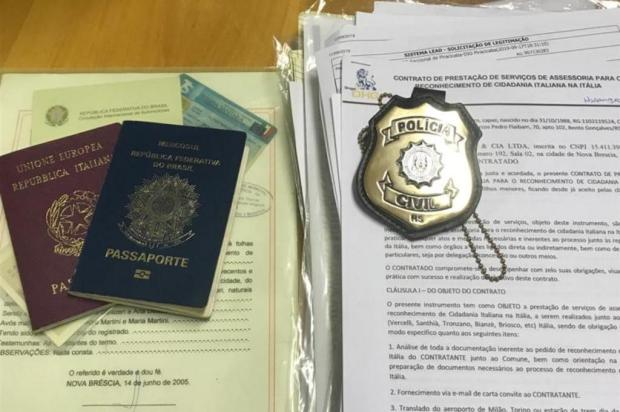Homem que atuava em Caxias é preso suspeito de golpe envolvendo cidadania italiana Polícia Civil/Reprodução