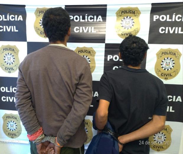 Suspeitos de 14 roubos a ônibus, dois homens são presos em Caxias do Sul Polícia Civil / Divulgação/Divulgação