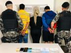 Depois de usar cartões de crédito furtados, dois homens e uma mulher são detidos em Caxias Brigada Militar/Divulgação