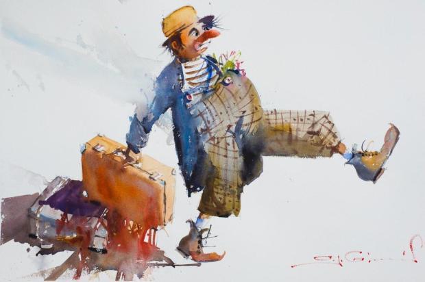 Universo do circo é tema de exposição do artista Antonio Giacomin Julio Soares/Reprodução