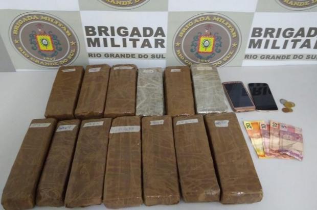 BM prende traficantes de maconha na Serra Brigada Militar/Divulgação