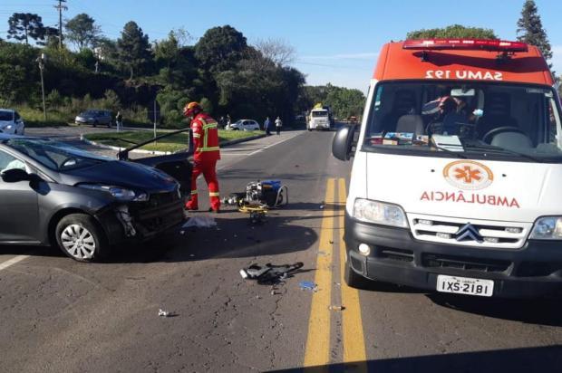 Acidente deixa homem gravemente ferido na BR-470, em Garibaldi PRF/Divulgação