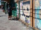 Grafites são cobertos por tinta verde em Bento Gonçalves Gilnei Rigotto/Divulgação