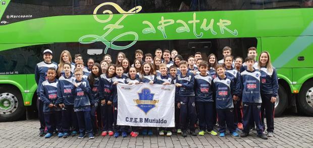 Equipe do CFEB Murialdo/Juvenil embarca para etapa do circuito nacional CFEB Murialdo / Divulgação/Divulgação