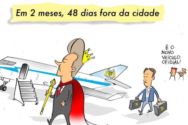 Iotti: em dois meses, prefeito de Caxias esteve 48 dias fora da cidade Iotti/Iotti