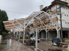 Rua coberta de Canela, na Serra, tem previsão de ser entregue ao público até dezembro Estação Campos de Canella/Divulgação
