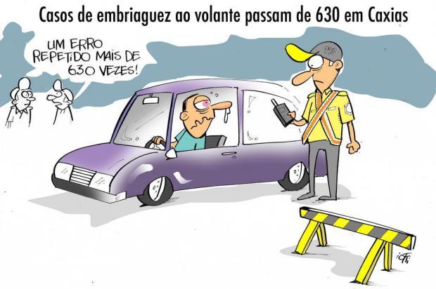 Iotti: casos de embriaguez ao volante passam de 630 neste ano, em Caxias Iotti/Iotti