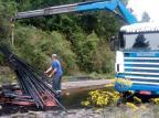 Acidente entre caminhões e moto bloqueia ERS-122 em Ipê PRE / Divulgação/Divulgação