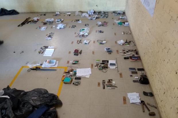 Operação encontra 69 celulares e 925g de drogas em galeria de penitenciária de Caxias do Sul Susepe/Divulgação