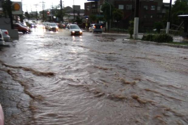 Temporal com chuva de granizo causa alagamentos, quedas de árvore e deixa 700 clientes sem luz em Bento Gonçalves Divulgação / Defesa Civil/Defesa Civil