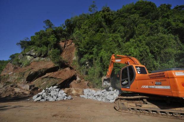 Trânsito de veículos na ERS-122, em Farroupilha, não tem previsão de liberação Porthus Junior/Agencia RBS