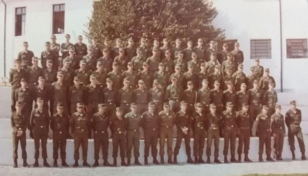 Classe de 1960: a 1ª Bateria do quartel em 1979 Acervo de família / divulgação/divulgação