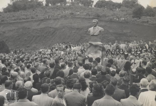 Praça Vestibular Abramo Eberle em 1946 Giacomo Geremia / Arquivo Histórico Municipal João Spadari Adami, divulgação/Arquivo Histórico Municipal João Spadari Adami, divulgação