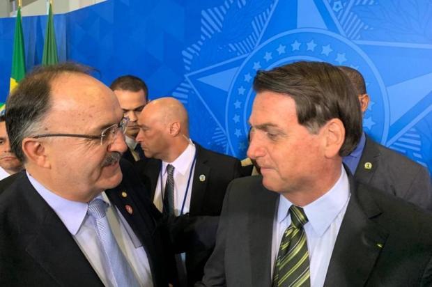 Mauro Pereira participa de solenidade com Bolsonaro Arquivo pessoal/Divulgação