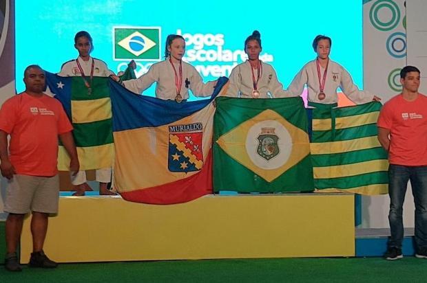 Judoca caxiense fatura medalha de ouro na etapa nacional dos Jogos Escolares da Juventude Divulgação/Divulgação