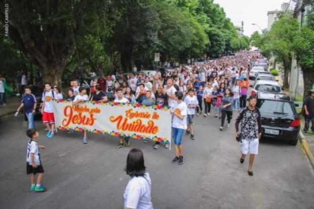 Marcha para Jesus deve reunir 10 mil pessoas neste sábado, em Caxias do Sul Arno Quevedo/divulgação