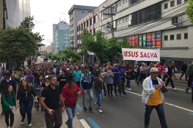 Marcha para Jesus reúne milhares de fiéis em Caxias do Sul André Tajes/Divulgação