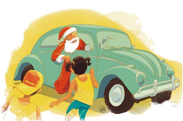"""Crônicas de Natal #4: """"quantas lembrançascabem em um Fusca?"""" Arte: Luan Zuchi/Arte: Luan Zuchi"""
