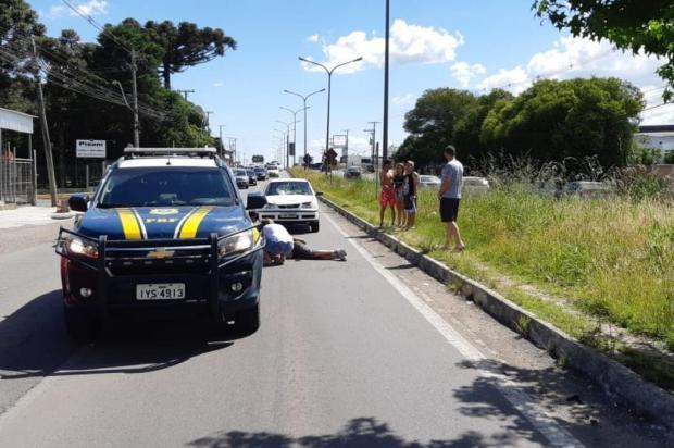 Homem é atropelado na BR-116, em Caxias PRF Caxias/Divulgação