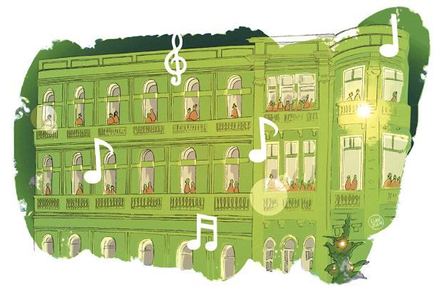 "Crônicas de Natal #9: ""Noite encantada"" Arte: Luan Zuchi/Arte: Luan Zuchi"