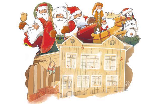 "Crônicas de Natal #11: ""A Casa do Papai Noel"" Arte: Luan Zuchi/Arte: Luan Zuchi"