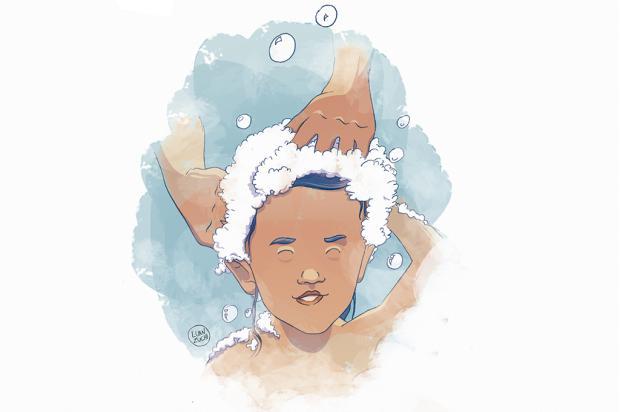 """Crônicas de Natal #19: """"Carinho que escorre entre os cabelos """" Arte: Luan Zuchi/Arte: Luan Zuchi"""
