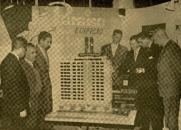 Maquete do Edifício Paraíso em 1958 Jornal Pioneiro / reprodução/reprodução