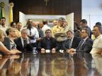"""""""A prefeitura estava muito pior do que imaginávamos"""", diz Ricardo Daneluz durante transmissão de cargo de prefeito de Caxias Lucas Amorelli/Agencia RBS"""