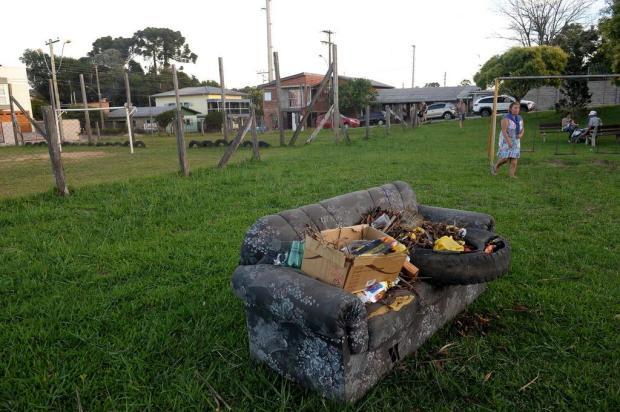 Moradores de Forqueta reclamam de sujeira em área de lazer Lucas Amorelli/Agencia RBS