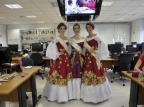 Soberanas da 14ª La Prima Vendemmia, de Nova Roma do Sul, divulgam evento em Caxias Lucas Amorelli/Agencia RBS
