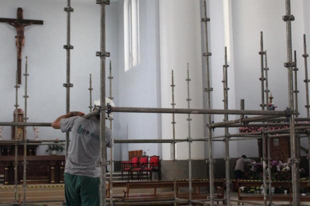 Reformas no interior do Santuário de Caravaggio ocorrerão nos próximos três meses Leandro Ávila/Santuário de Nossa Senhora de Caravaggio