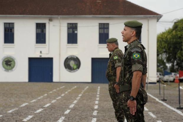 Exército de Caxias do Sul troca de comando Lucas Amorelli / Agência RBS/Agência RBS