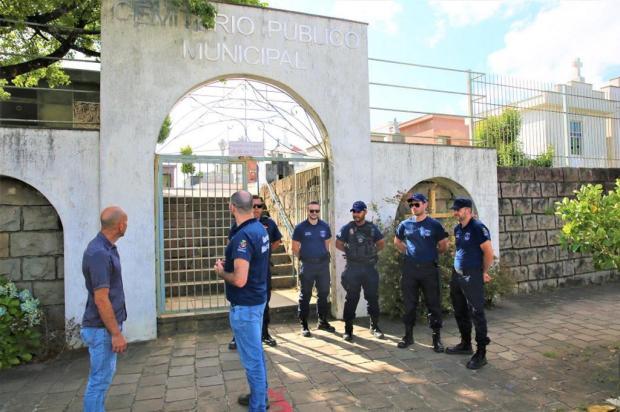 Guarda Municipal de Farroupilha reforça vigilância nos cemitérios após série de furtos Rodrigo Martins/Prefeitura Municipal de Farroupilha
